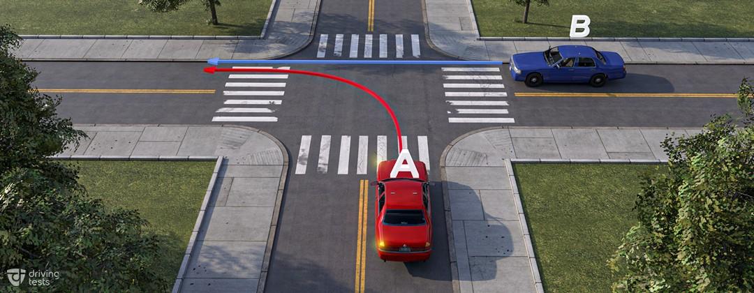 cars + arrow direction