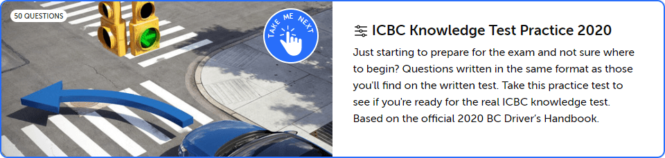 ICBC Knowledge Practice Test | Driver Test App